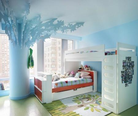 ideas de dormitorio azul brillante Pintura De Interior Para Dormitorios Infantiles Pintura